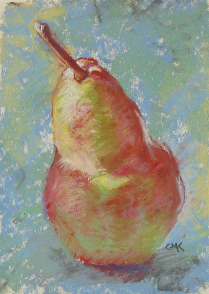 """Pear #1"" original fine art by Catherine Kauffman"
