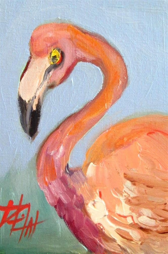 """""""Flamingo Dreams"""" original fine art by Delilah Smith"""