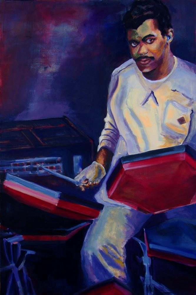 """""""Music Man"""" original fine art by Daryl Lyn King"""