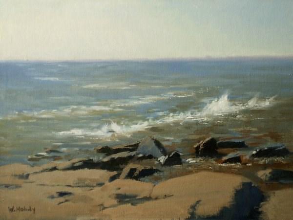 """Brighton Beach 2"" original fine art by Weston Hobdy"