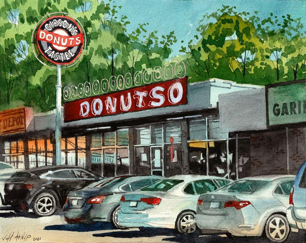 """Gibson's Donuts"" original fine art by Jeff Atnip"