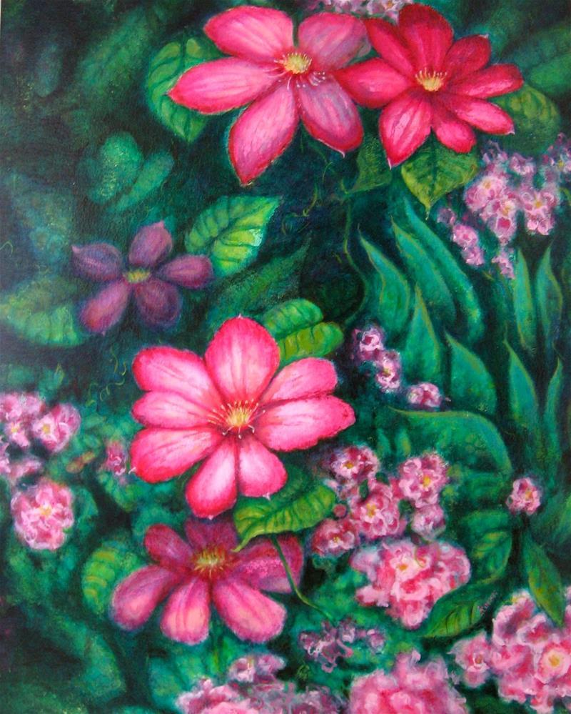 """""""In The Pink"""" original fine art by Karen Roncari"""