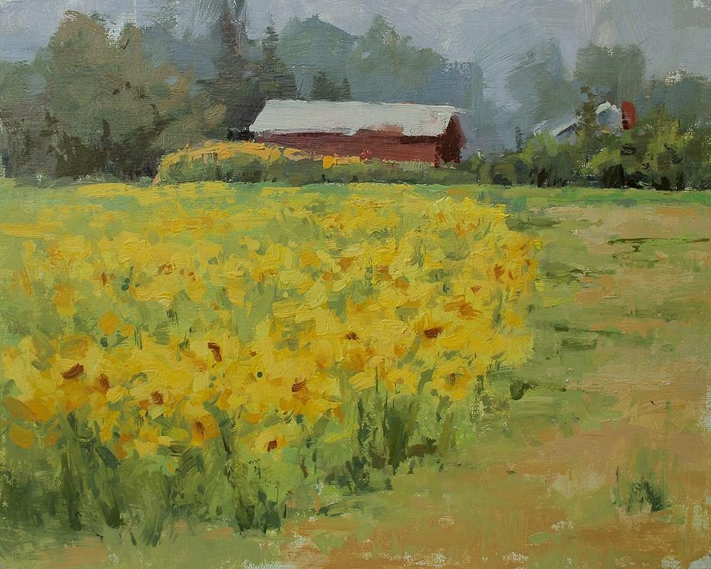 """Sunshine on a Cloudy Day"" original fine art by Melanie Thompson"