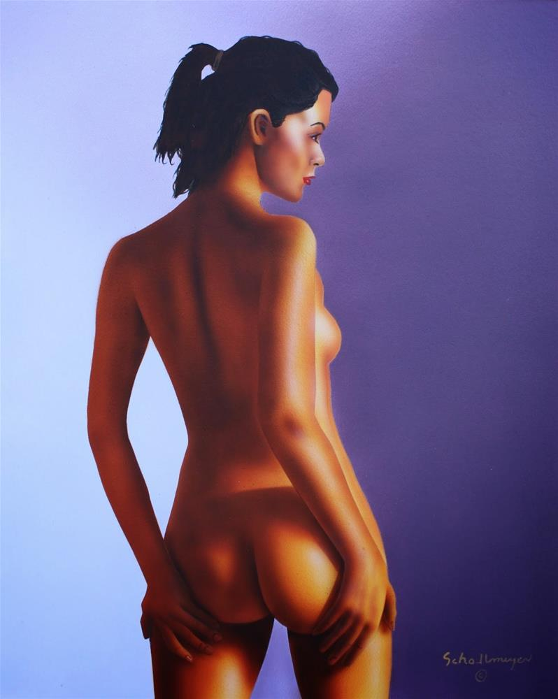"""""""Nude With Morning Light"""" original fine art by Fred Schollmeyer"""