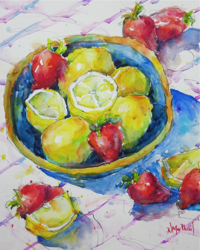 """sweet and sour"" original fine art by Nora MacPhail"