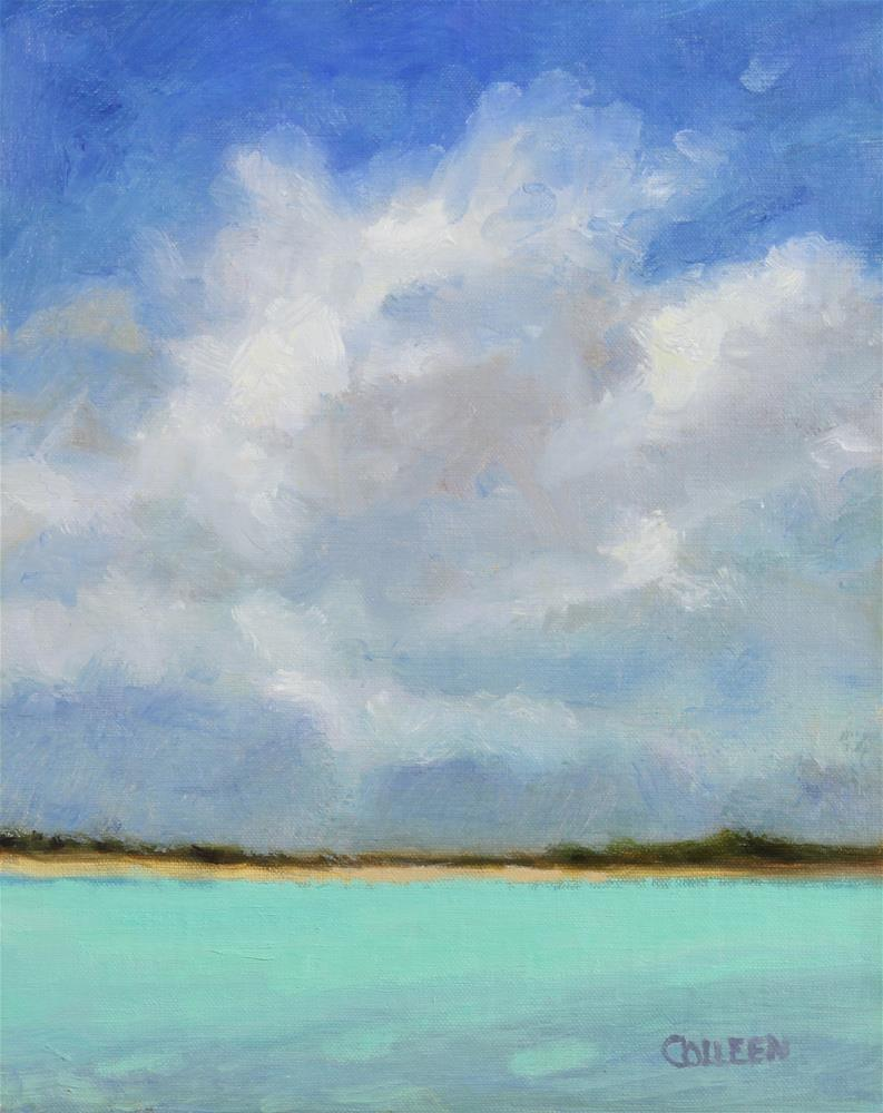 """""""Clouds Across the Bay"""" original fine art by Colleen Parker"""
