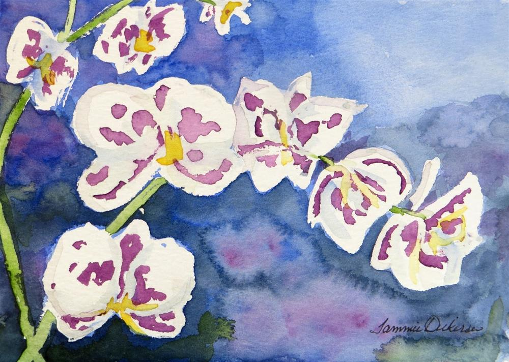 """""""Spotted Orchid"""" original fine art by Tammie Dickerson"""