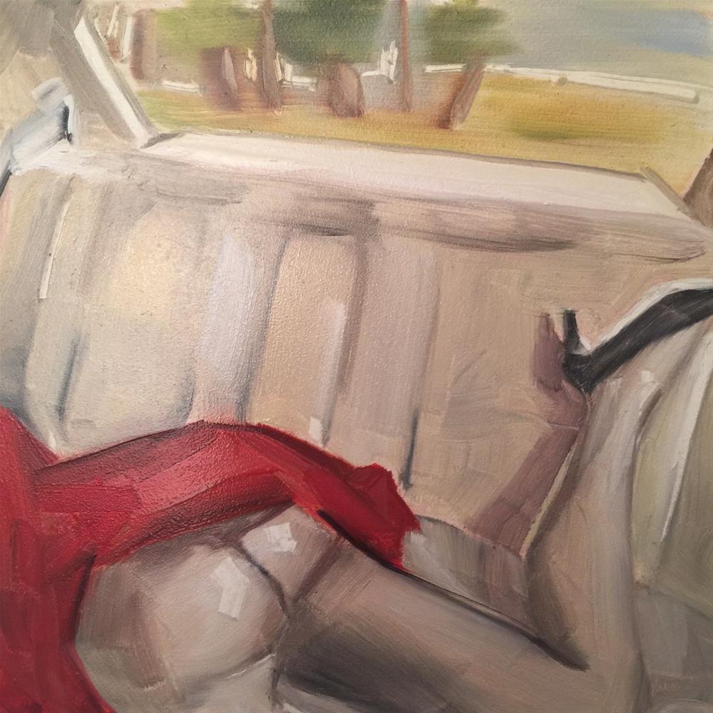 """""""457 Backseat Driver"""" original fine art by Jenny Doh"""