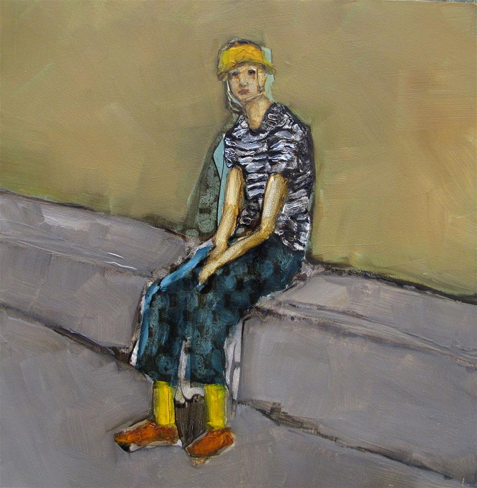 """WARDROBE MALFUNCTION Original ABSTRACT FIGURE Art Painting OIL"" original fine art by Colette Davis"