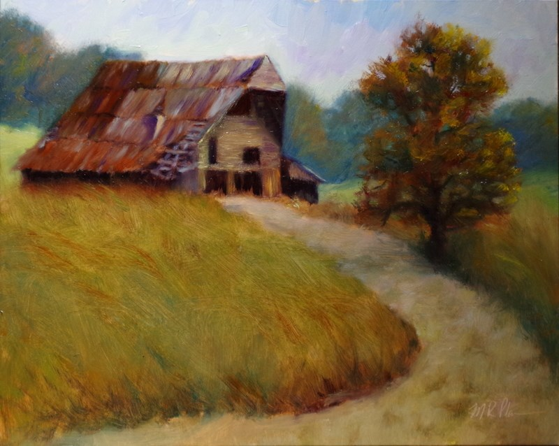 """""""Rustic Oversight"""" original fine art by Marilyn R. Place"""
