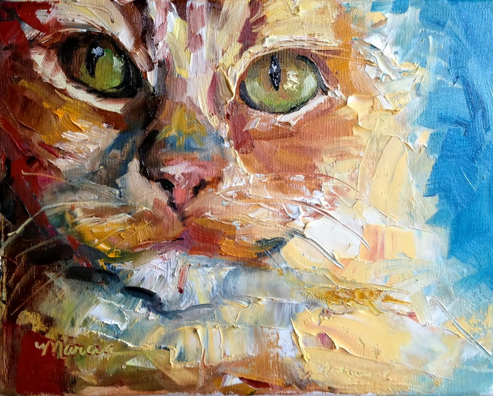 """The Cat's Meow"" original fine art by Marcia Hodges"