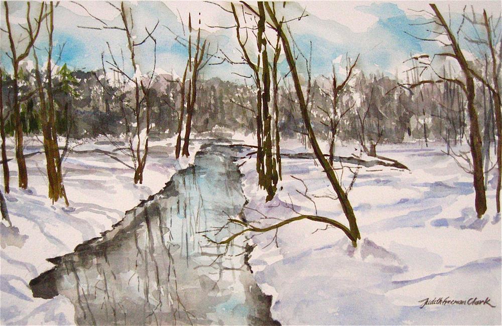 """February Thaw"" original fine art by Judith Freeman Clark"