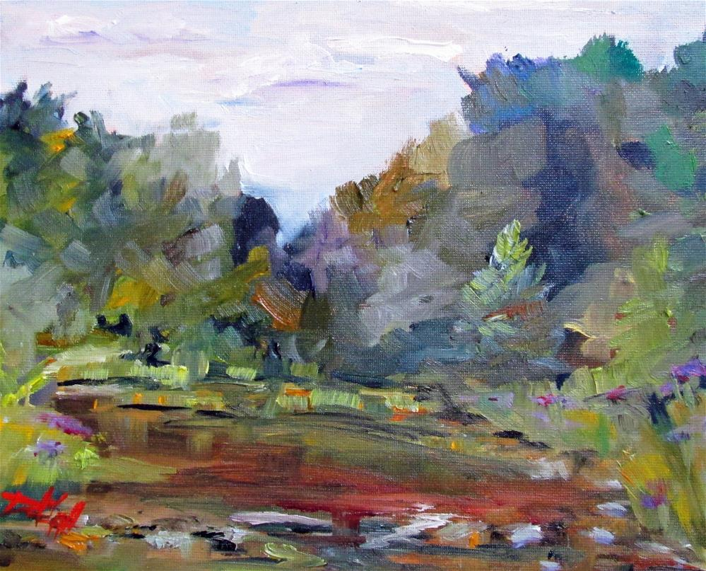 """Along Mill Creek"" original fine art by Delilah Smith"