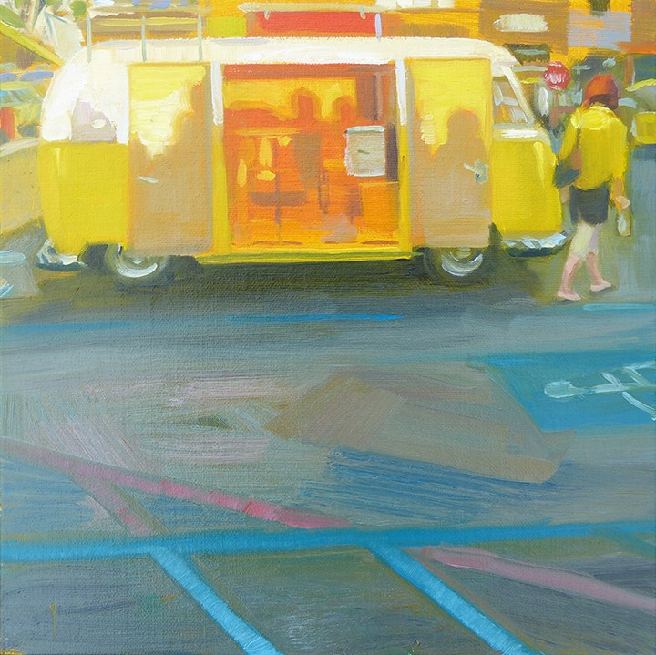 """""""Yellow Watchers - Day 28"""" original fine art by Anette Power"""