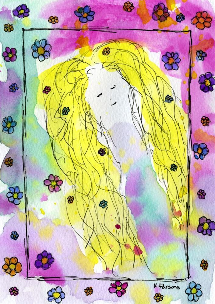 """Warrior Princess"" original fine art by Kali Parsons"