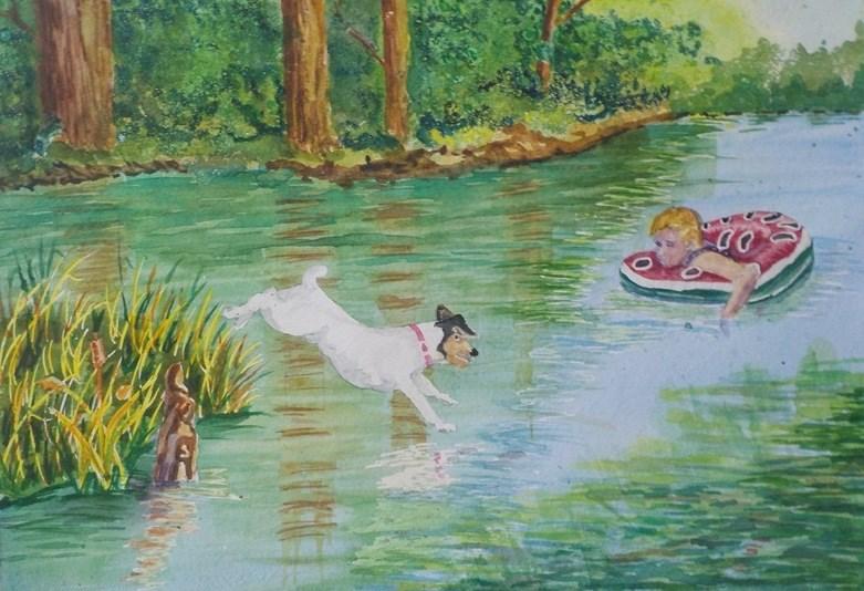 """""""Wait for Me   #194"""" original fine art by Jim Whiteside"""