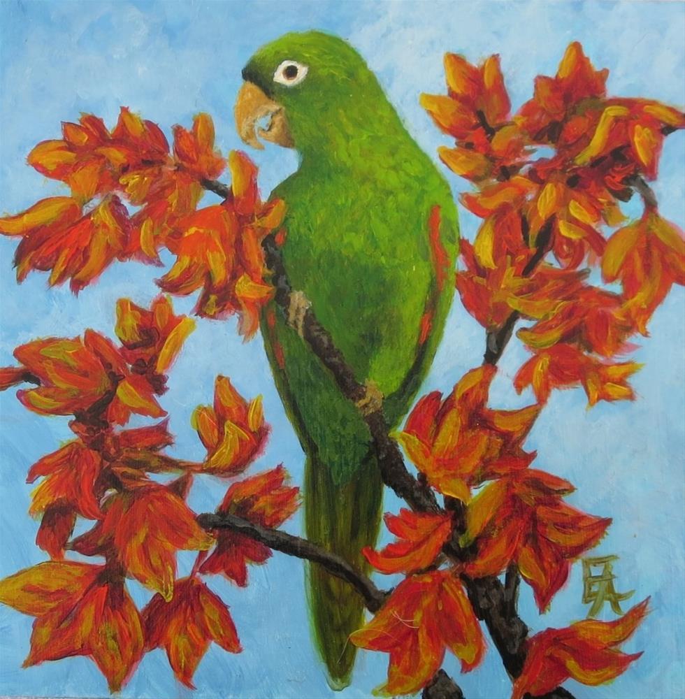 """Garuda Aviary Fundraiser -Watson"" original fine art by Elizabeth Elgin"