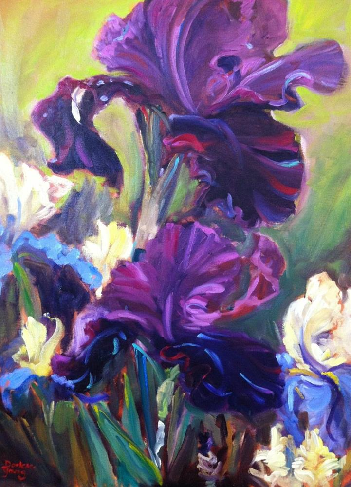 """Empress Irises"" original fine art by Darlene Young"