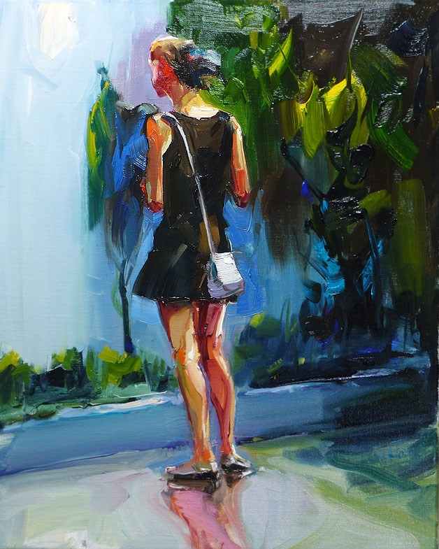 """waiting"" original fine art by Jurij Frey"