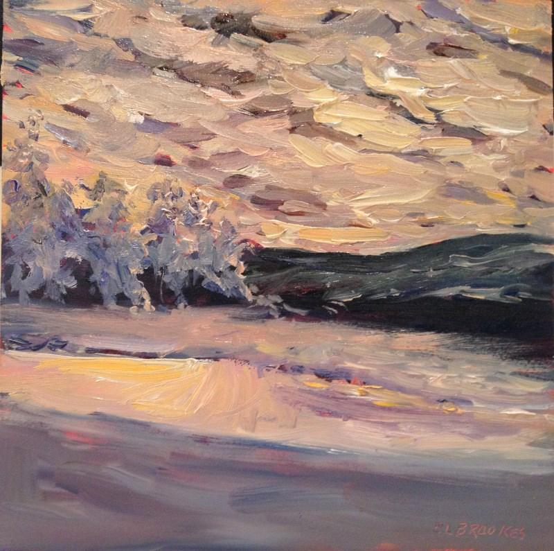 """Quiet Stretch of Beach, Day 82"" original fine art by Claudia L Brookes"