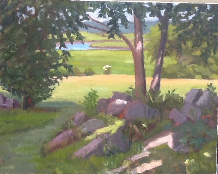 """""""Distant Marsh"""" original fine art by Elizabeth Bish"""