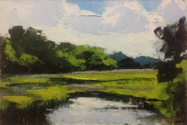 """Summer Marsh"" original fine art by Mary Gilkerson"