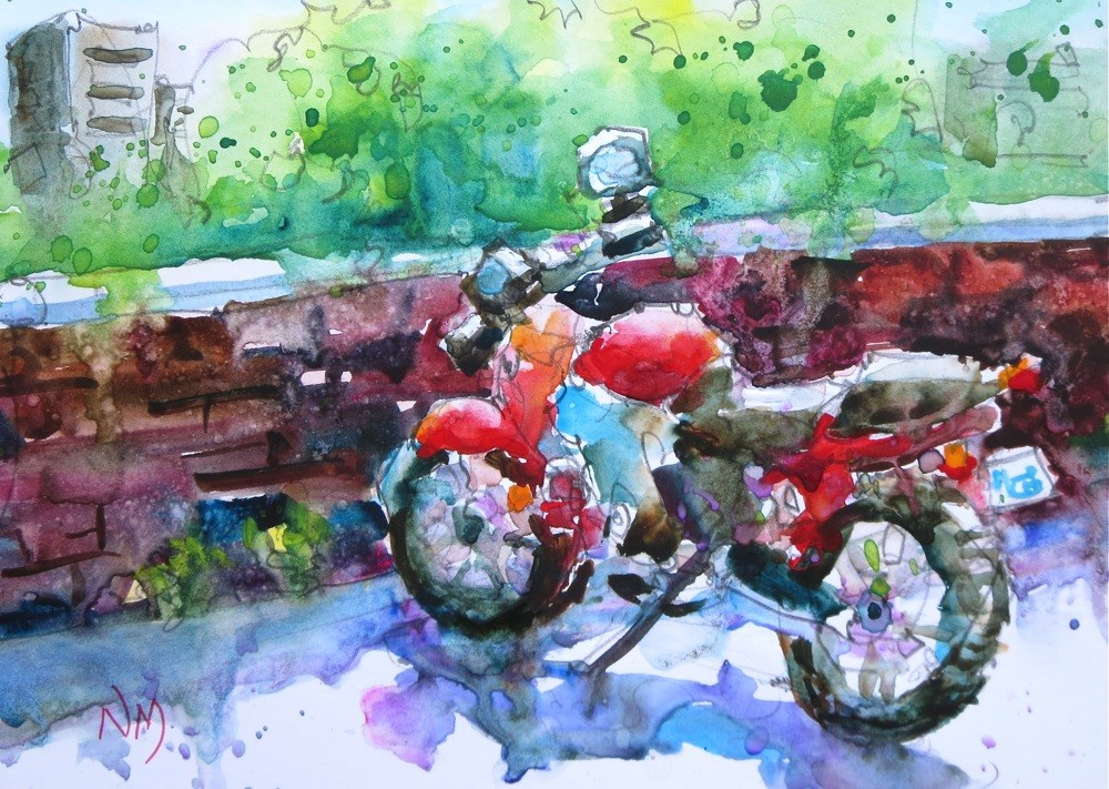 """""""sunny but cool"""" original fine art by Nora MacPhail"""