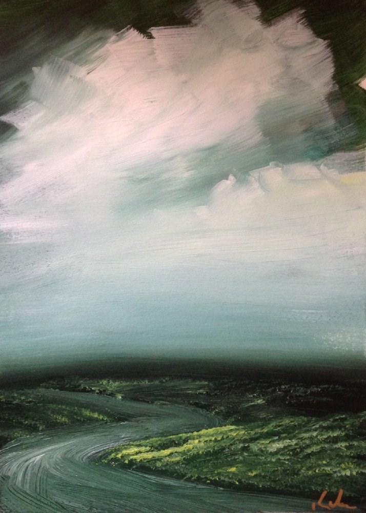 """Wayside"" original fine art by David Kuhn"