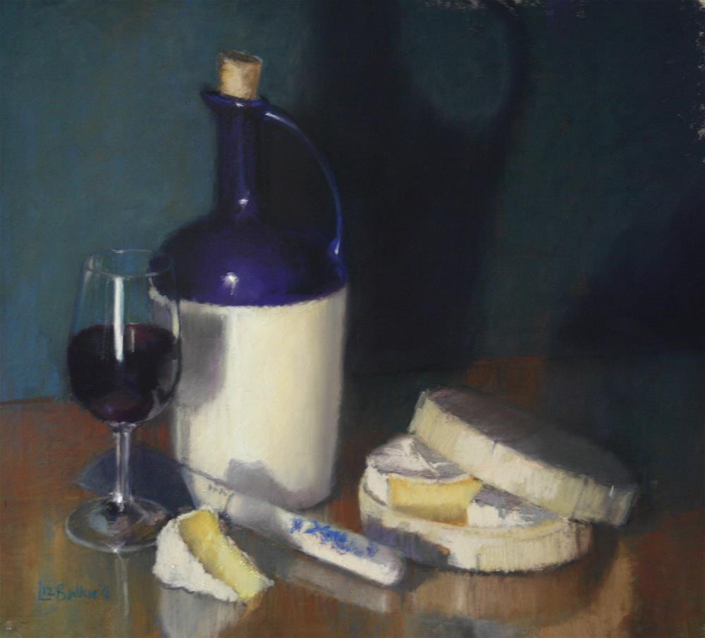 """Carafe and Camembert"" original fine art by Liz Balkwill"