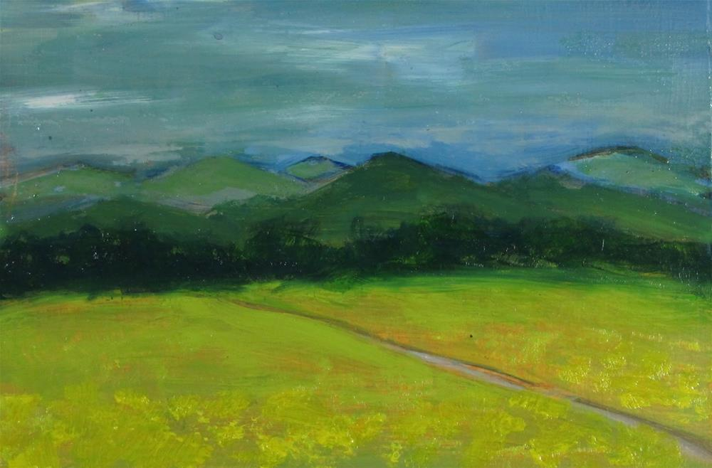 """""""Remembered Landscape #1  The Meadow"""" original fine art by Christine Holzschuh"""