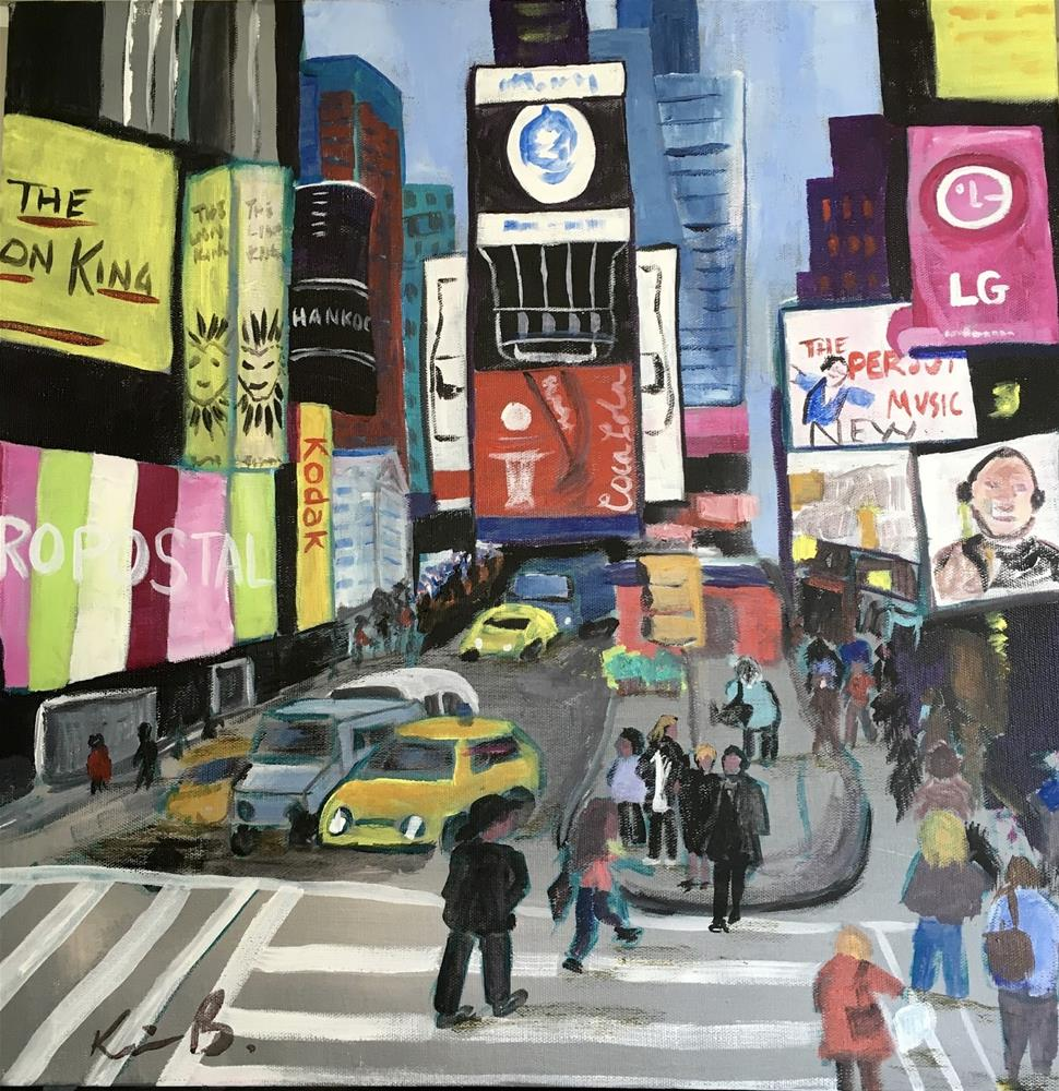"""Busy Afternoon in NYC"" original fine art by Kimberly Balentine"