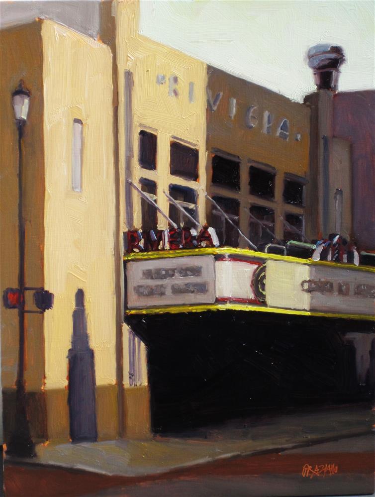 """""""Riviera Theater"""" original fine art by Dan Graziano"""