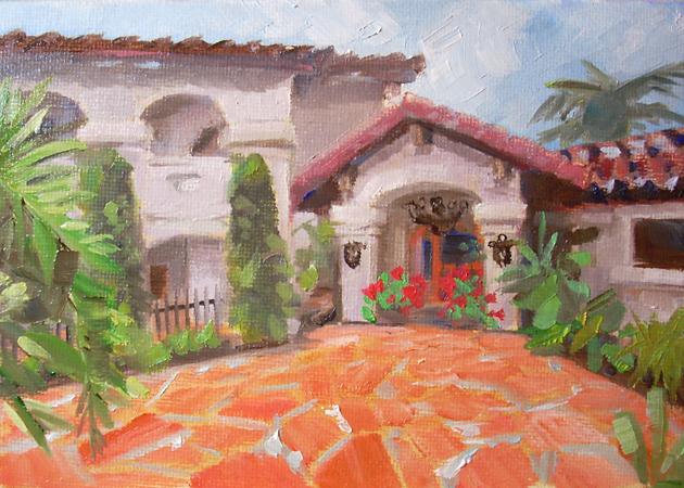 """Casa De La Madre"" original fine art by Karen Boe"