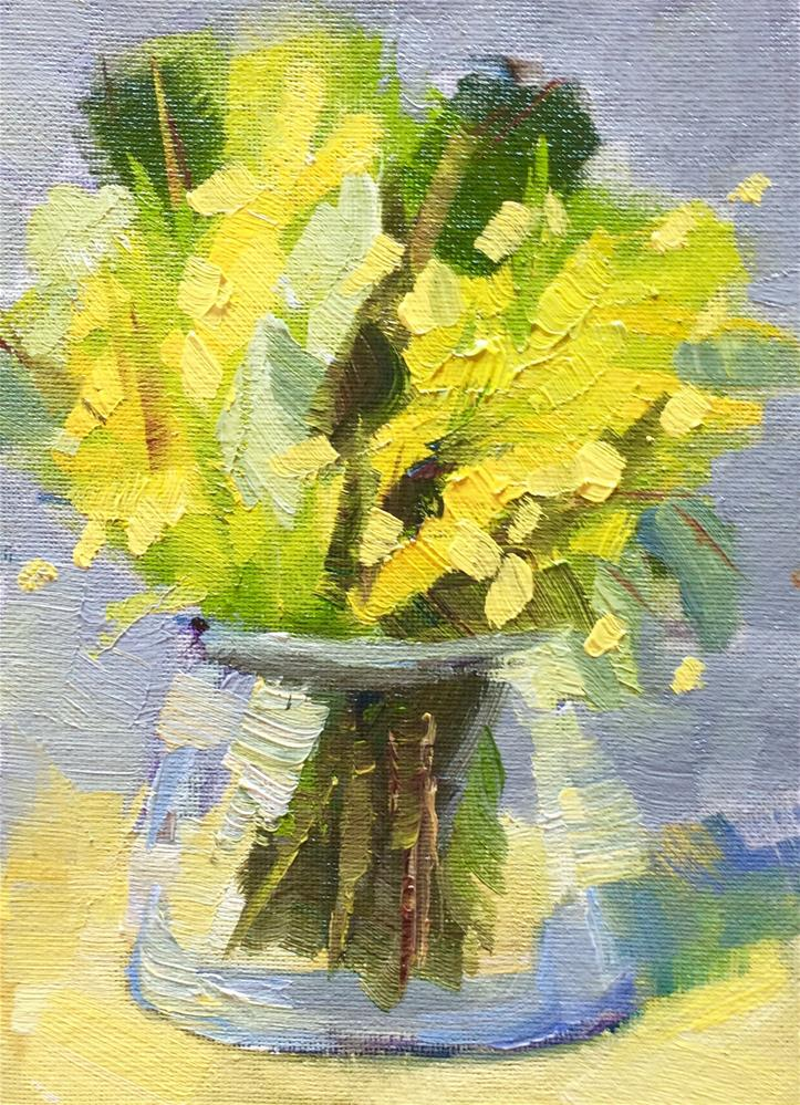 """Splash of Yellows"" original fine art by Naomi Bautista"