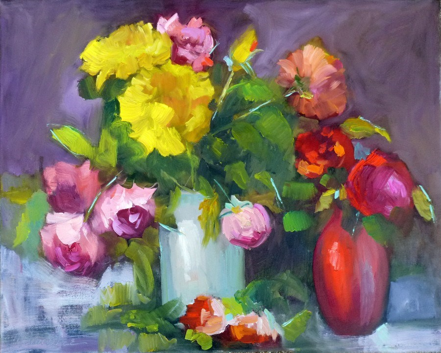 """Arkansas Roses 13059"" original fine art by Nancy Standlee"