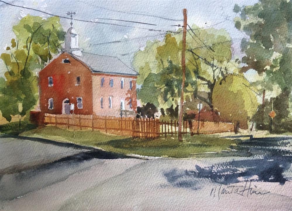 """Union Meeting House"" original fine art by Marita Hines"