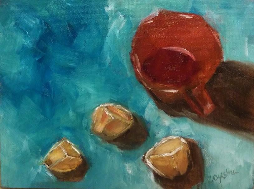 """Bits of Lemon"" original fine art by Cathy Dykstra"