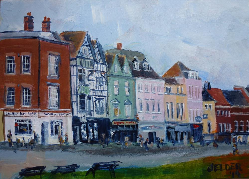 """Thames Street"" original fine art by Judith Elder"