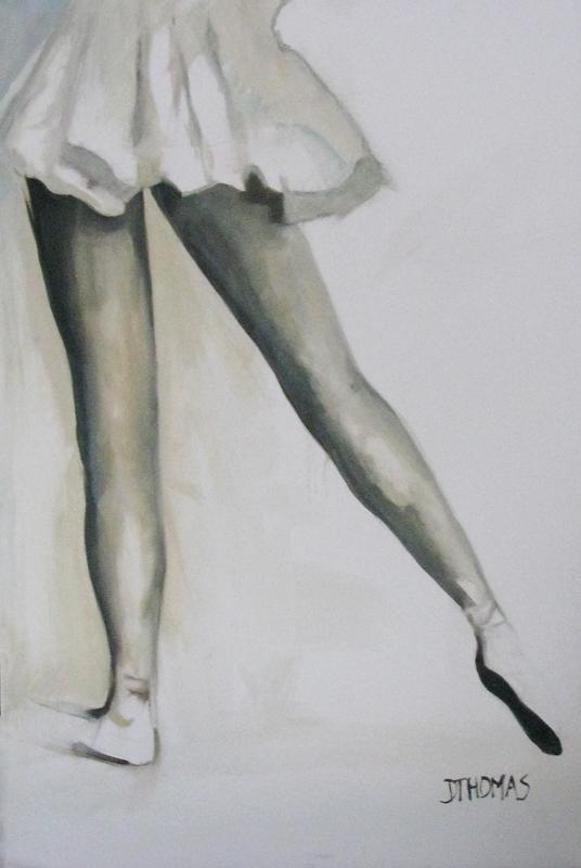 """Toe"" original fine art by Donna Thomas"