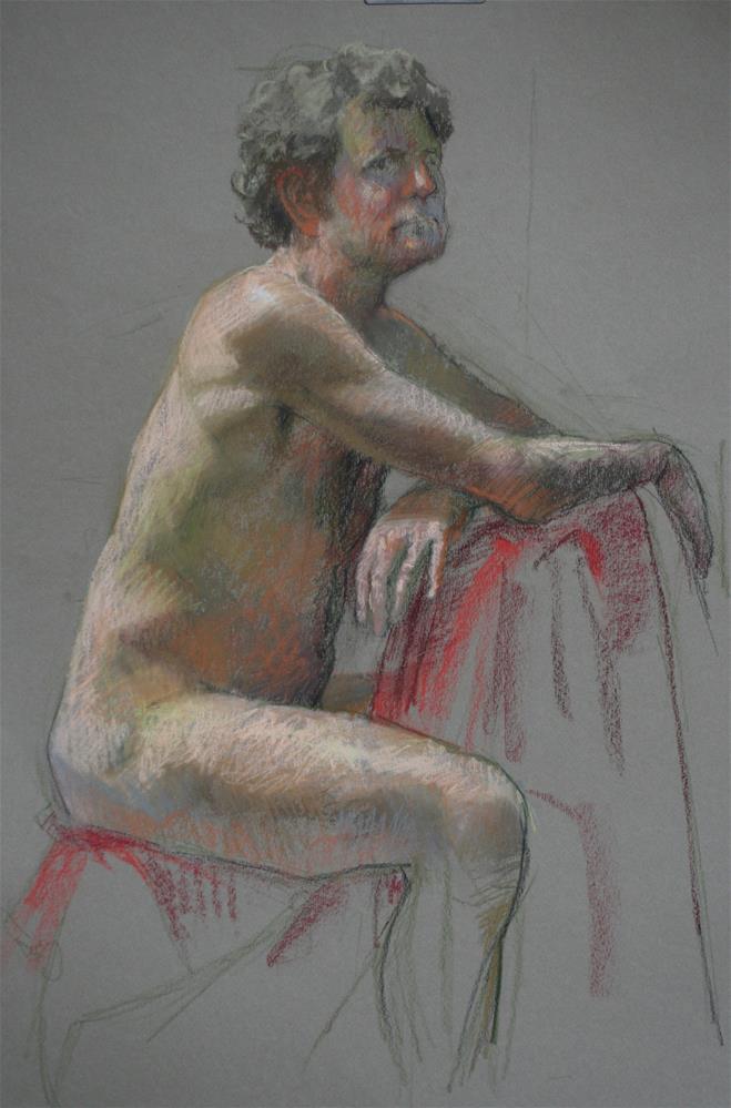 """Conte of Tom"" original fine art by Liz Balkwill"