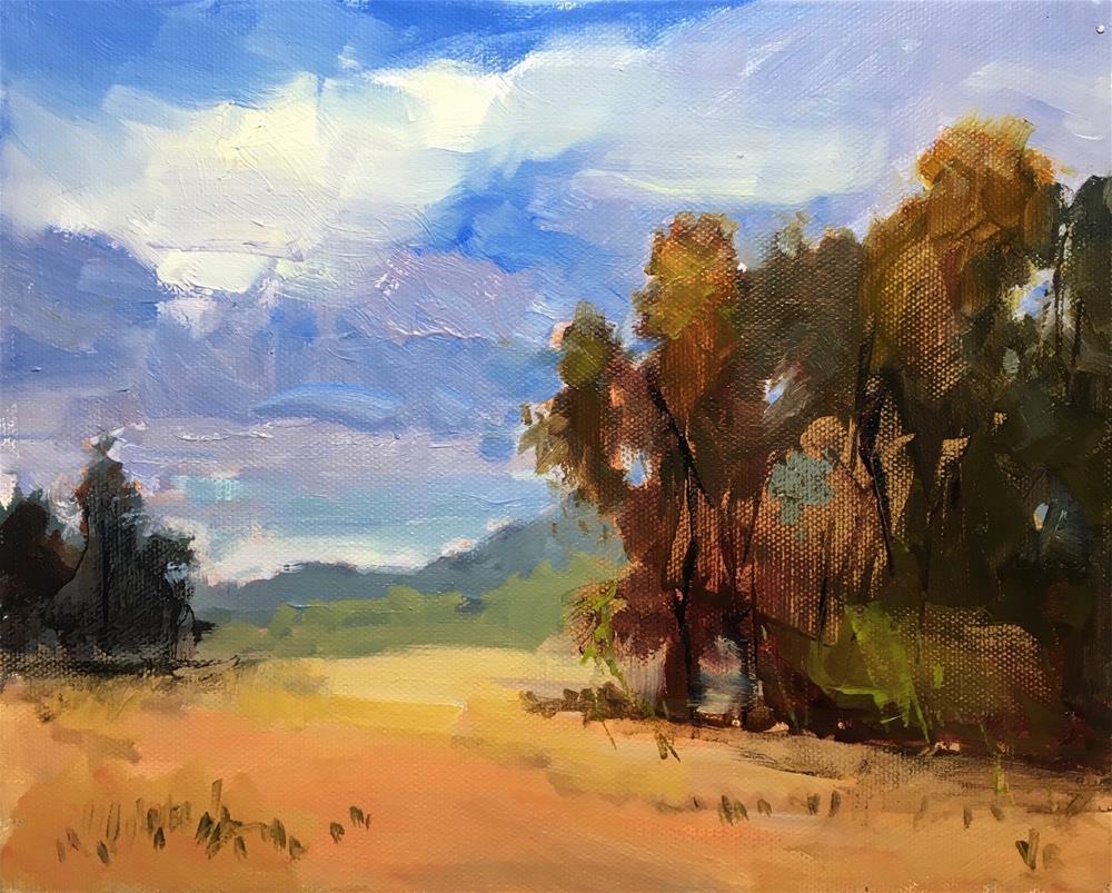 """View from Saginaw"" original fine art by Victoria  Biedron"