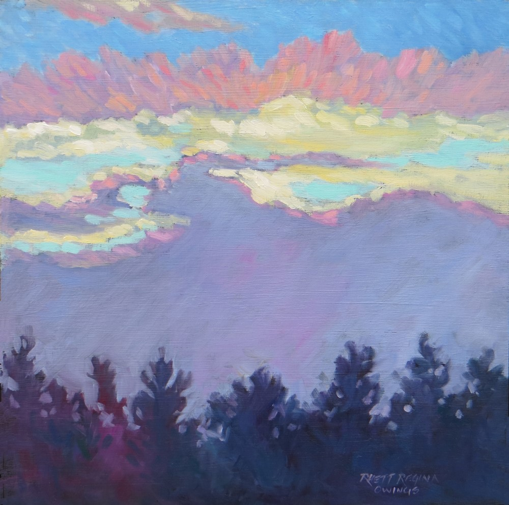 """Vibrant Sunset"" original fine art by Rhett Regina Owings"