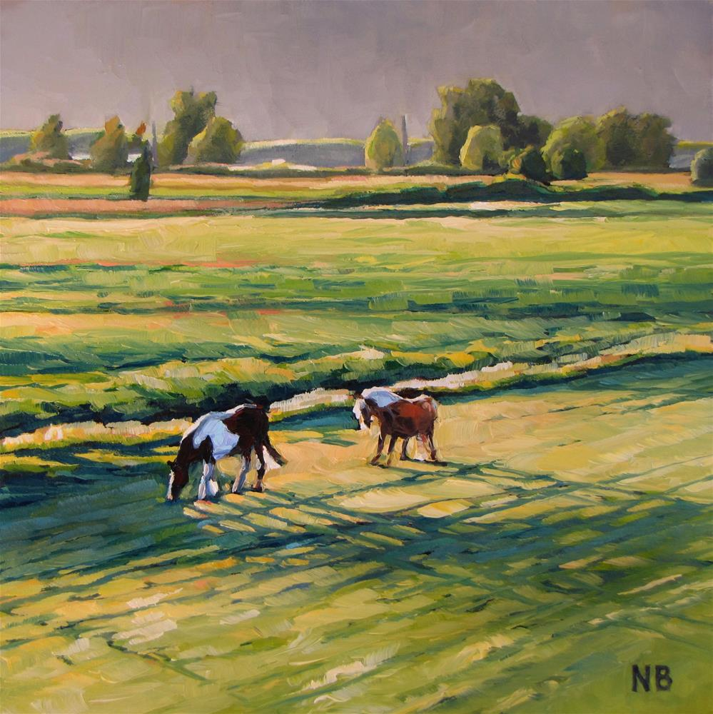 """Evening Graze"" original fine art by Nora Bergman"