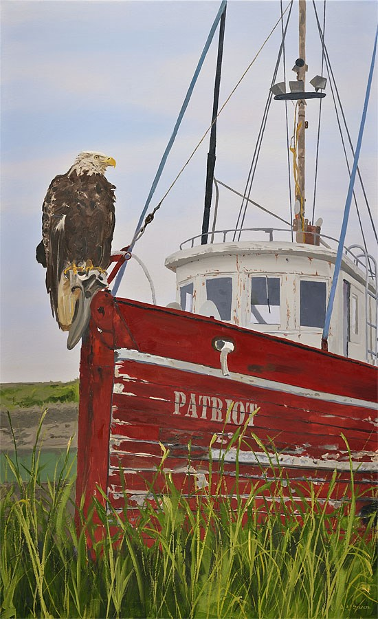 """""""The Patriot"""" original fine art by Andy Sewell"""