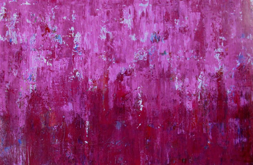 """26 x 17 inch acrylic Cotton Candy"" original fine art by Linda Yurgensen"