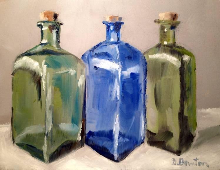 """Colored Bottles"" original fine art by Gary Bruton"