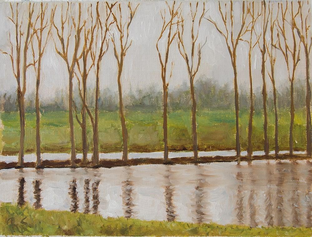 """""""1. Tree Line"""" original fine art by Rachel Steely"""