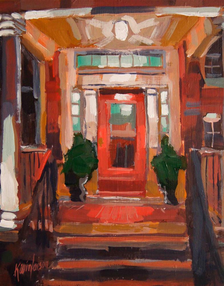 """Old Porch Light 2"" original fine art by Kevin Larson"