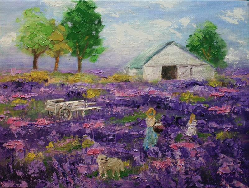 """""""Flower Fields"""" original fine art by Jean Nelson"""