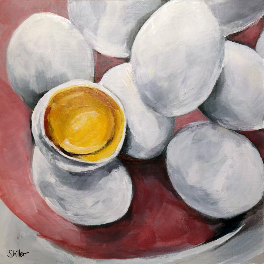 """""""2735 The yellow of the egg"""" original fine art by Dietmar Stiller"""